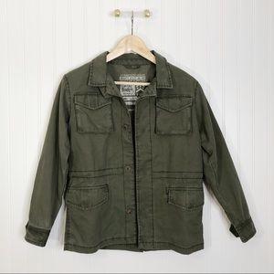 Mini Boden utility jacket green army 9-10 yr